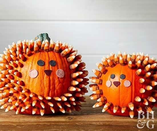 Decorar calabazas Halloween sin vaciar
