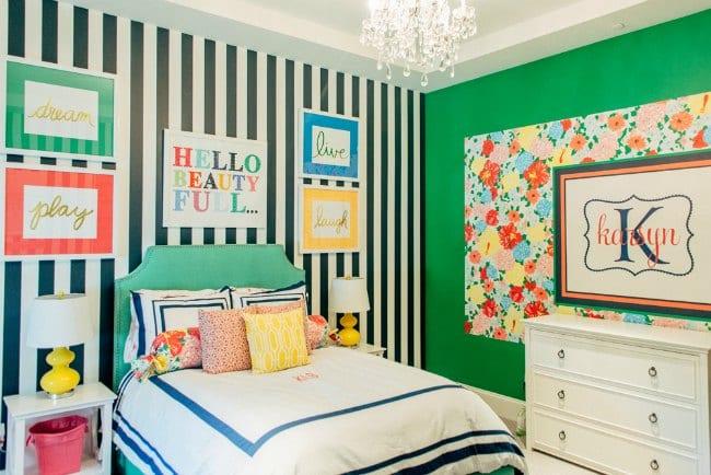 Dormitorio juvenil a todo color decoideas net - Habitacion juvenil chica ...