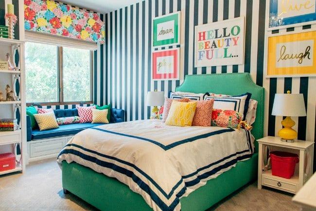 Dormitorio juvenil a todo color - Habitacion juvenil chica ...