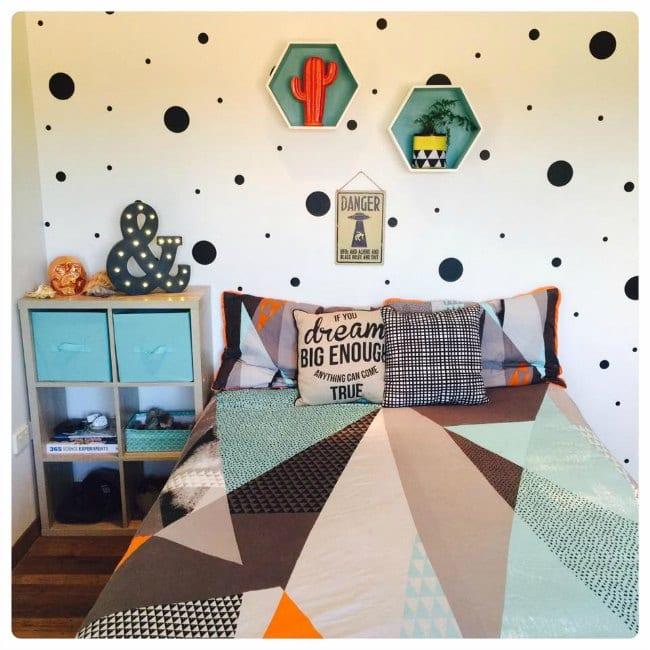 Las mejores habitaciones juveniles para chico decoideas for Vinilos habitacion juvenil chico
