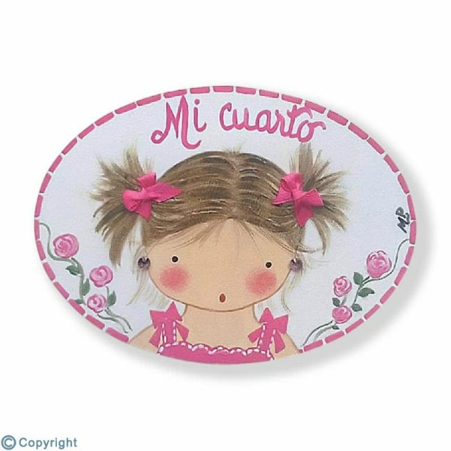 placa decorativa-niña