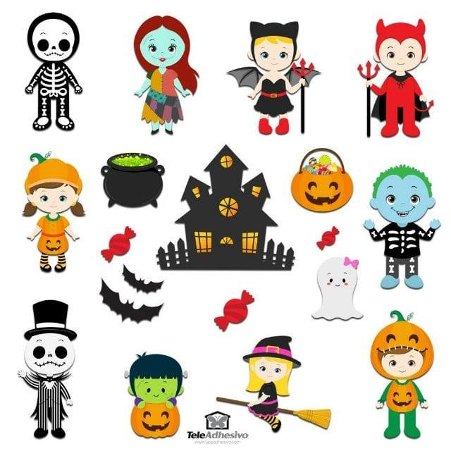 Decorar Halloween con vinilos infantiles