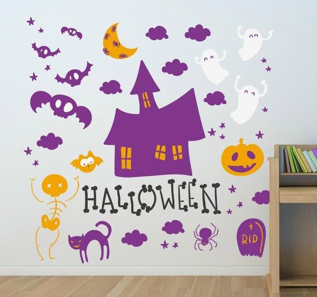 Decorar Halloween con vinilos infantiles DECOIDEASNET Ideas de