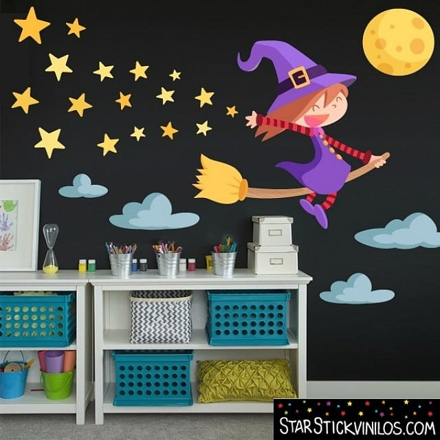 Decorar halloween con vinilos infantiles for Ideas para decorar paredes de jardin