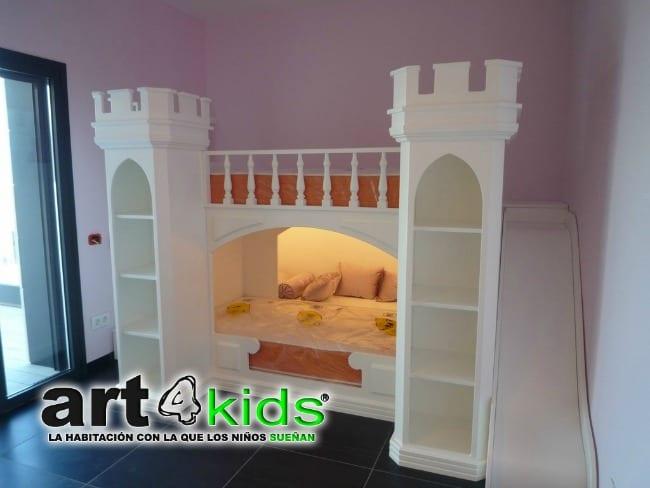 Habitaci n castillo de princesas elegance - Camas con tobogan para ninos ...