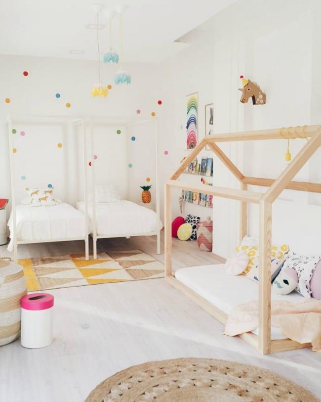 Las últimas tendencias en esta habitación infantil compartida
