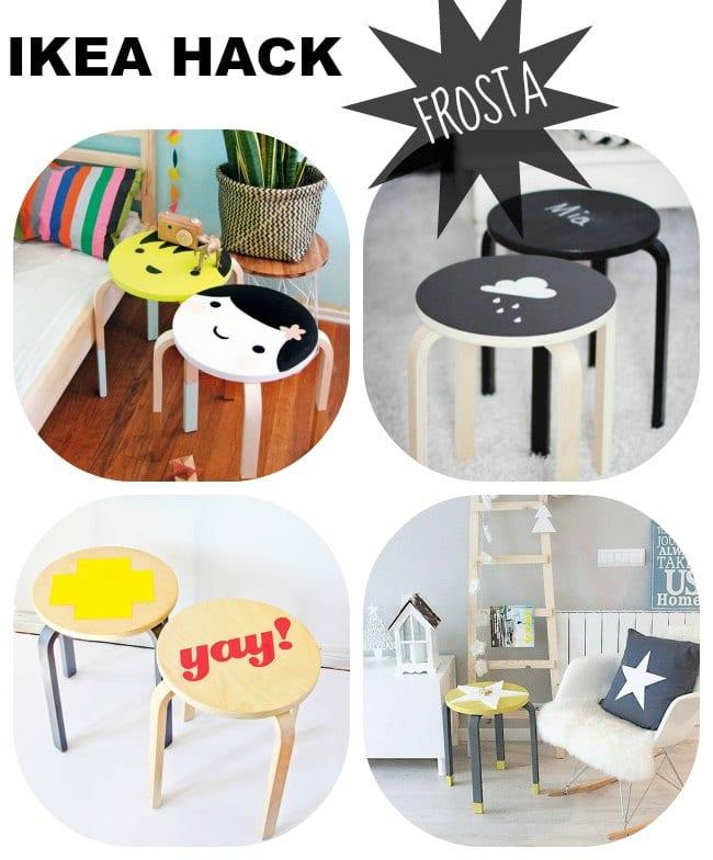 4 Hacks con el taburete Frosta de Ikea