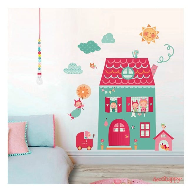 Decorar habitaciones infantiles con decohappy for Vinilo pared habitacion
