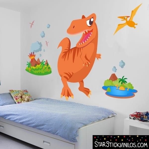 vinilo-infantil-dinosaurio