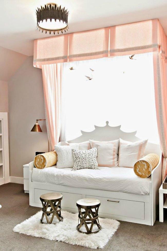 Ambientes de habitaciones juveniles para chicas con mucho for Vinilos para piezas