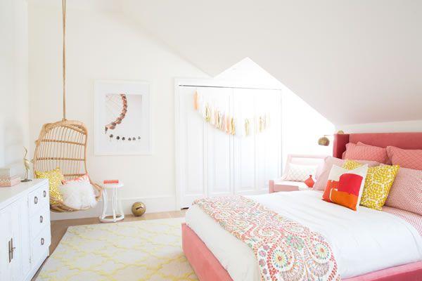 Ambientes de habitaciones juveniles para chicas con mucho estilo decoideas net - Entrancing girl bedroom decoration with various stripping in girl room ...