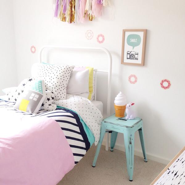 8 habitaciones para ni a en rosa y verde pastel for Decoracion sencilla habitacion nina