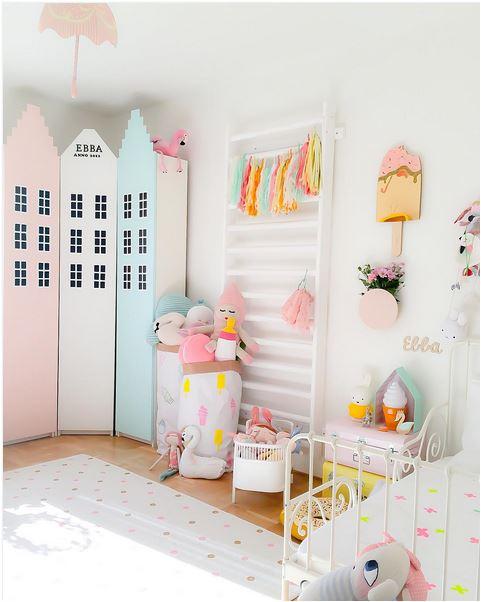 Habitaciones para niña en rosa y verde pastel  DecoideasNet