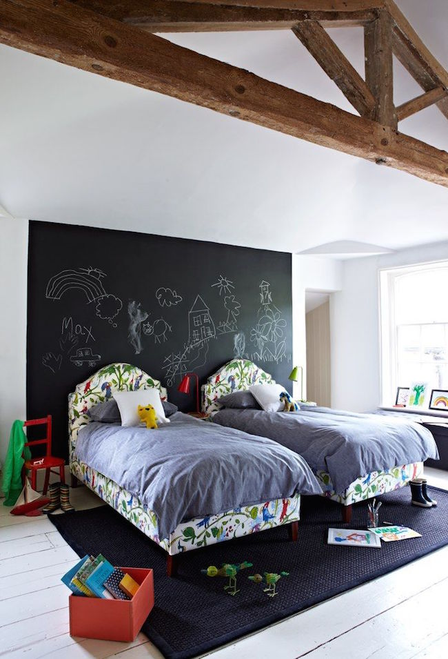 Habitaciones infantiles con pintura de pizarra - Pinturas habitaciones infantiles ...