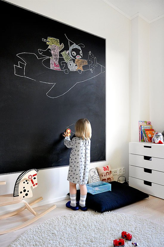 Habitaciones infantiles con pintura de pizarra decoideas net - Pinturas habitaciones infantiles ...