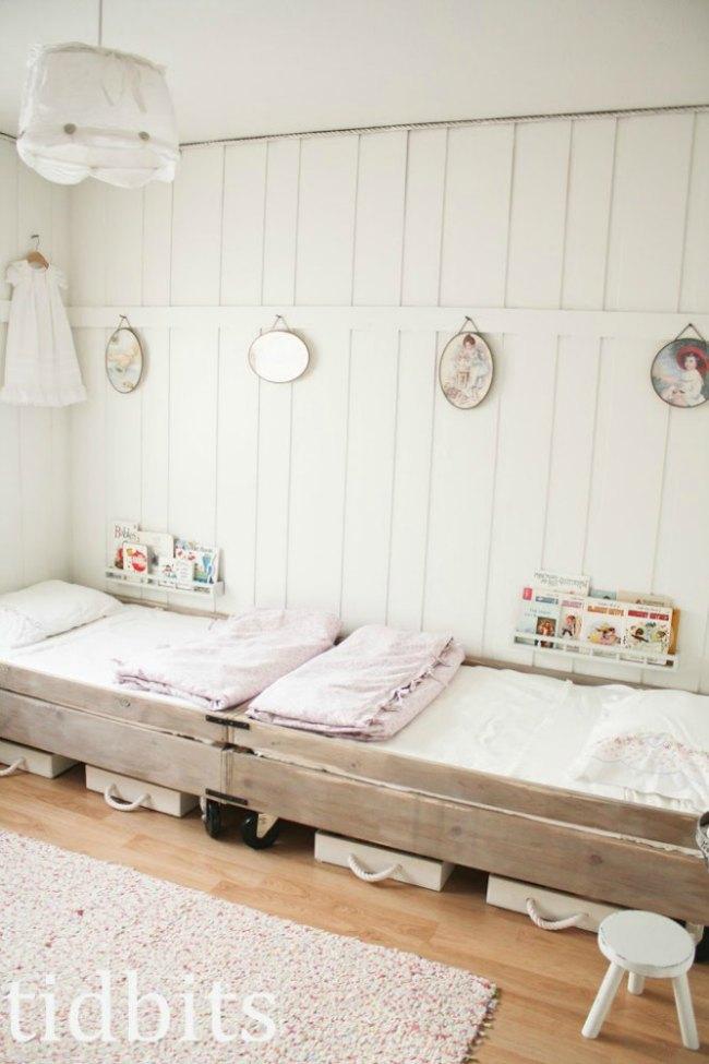 Dormitorios infantiles con paredes de madera Revestimiento para paredes dormitorios