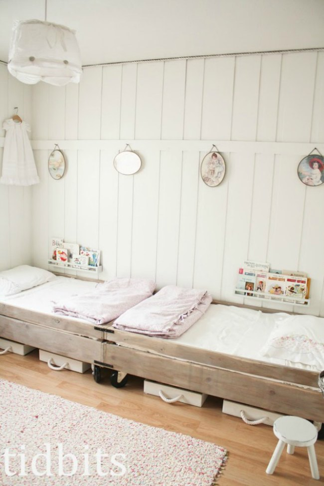 Dormitorios infantiles con paredes de madera decoideas net - Revestimientos de madera paredes interiores ...