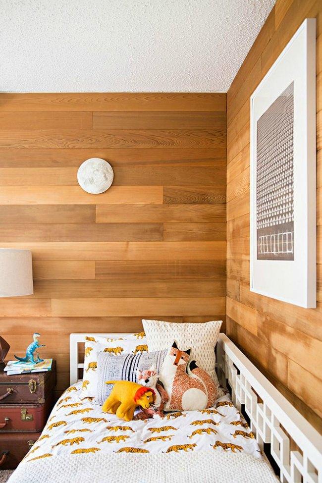dormitorios infantiles con paredes de madera decoideas net ForParedes En Madera