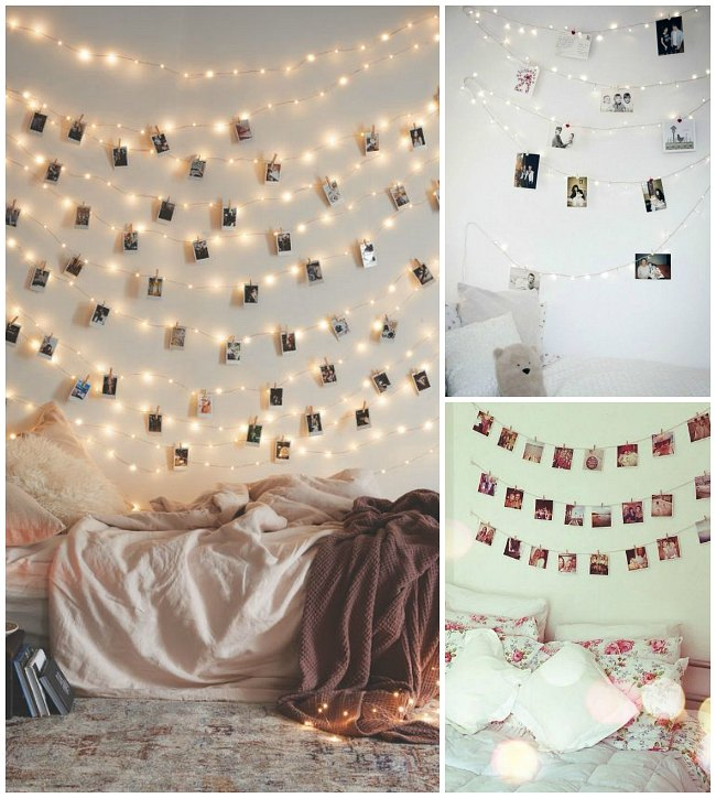 Decorar con fotos las habitaciones juveniles decoideas - Ideas originales para decorar paredes ...