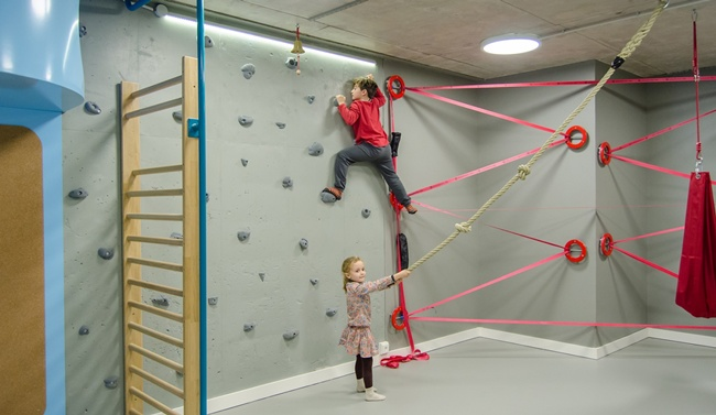 Un gimnasio para ni os en casa decoraci n infantil - Decoracion de gimnasios ...