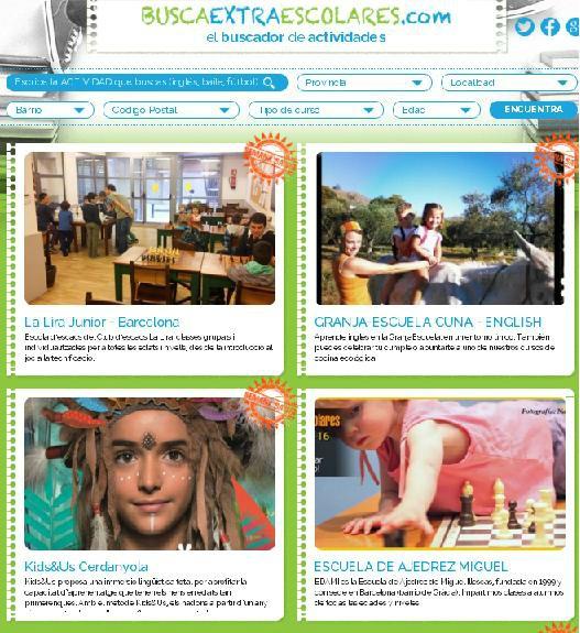 Buscaextraescolares.com el buscador de actividades infantiles