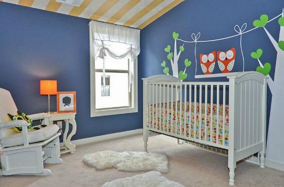 10 habitaciones de beb de color azul decoideas net - Fotos habitaciones bebes ...