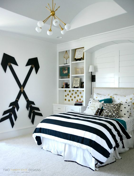 9 dormitorios juveniles en blanco decoideas net for Habitaciones juveniles blancas