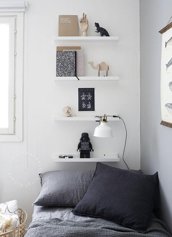 9 dormitorios juveniles en blanco decoideas net - Habitaciones blancas ikea ...