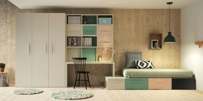 Muebles juveniles by lagrama decoideas net - Literas abatibles lagrama ...