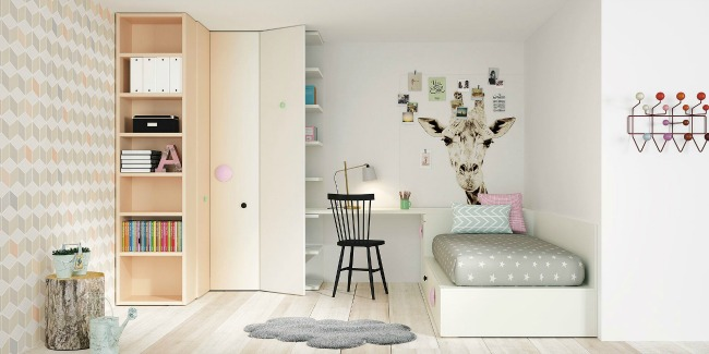 Muebles juveniles by lagrama for Idea de habitacion infantil
