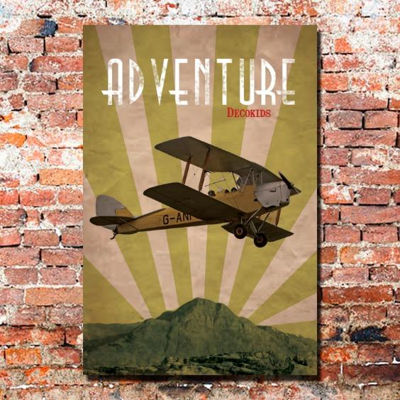 cuadro-vintage-avion