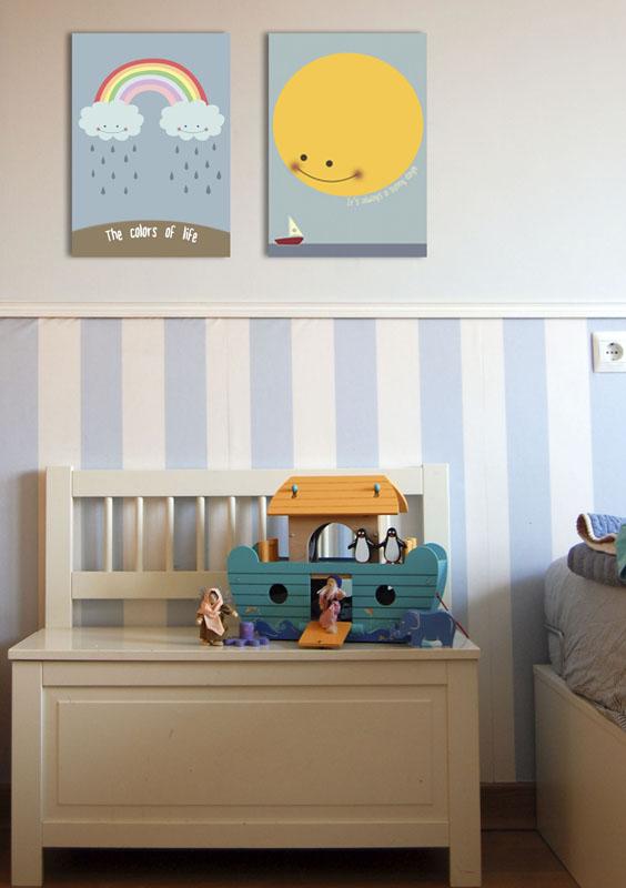 Cuadros infantiles y juveniles for Cuadros habitacion juvenil