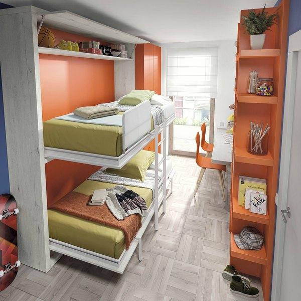 Camas abatibles juveniles para espacios reducidos gallery for Cama escondida en mueble
