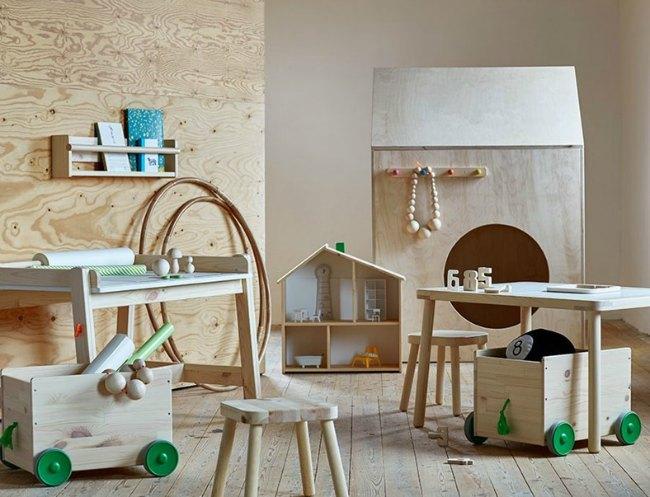 Serie Flisat de Ikea, para organizar y jugar