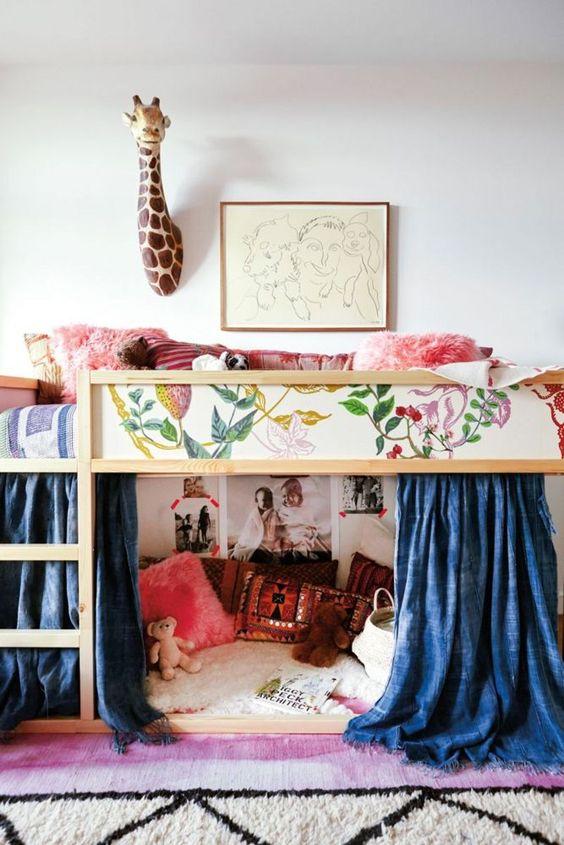 Personalizar la camaKura de Ikea con pintura, papel o tela