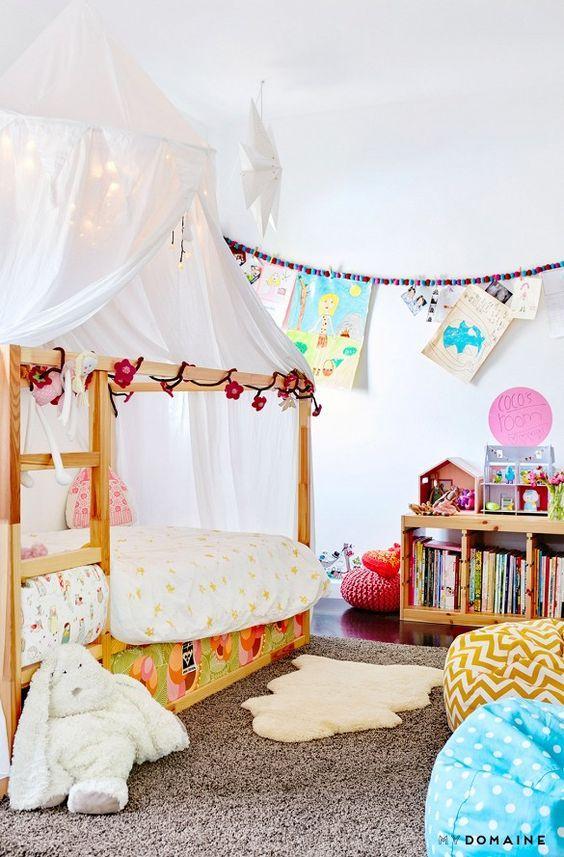 10 ideas para personalizar tu cama kura de ikea. Black Bedroom Furniture Sets. Home Design Ideas