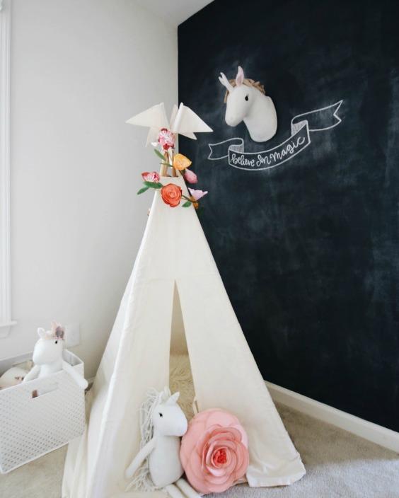 Tendencia decoraci n infantil unicornios decoideas net for Decoracion para pared de unicornio