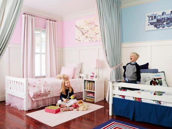 Pintar habitaciones infantiles compartidas - Ideas para pintar habitaciones ...