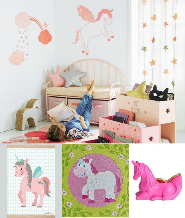 Tendencia decoracion unicornios - Ideas para pintar habitaciones infantiles ...