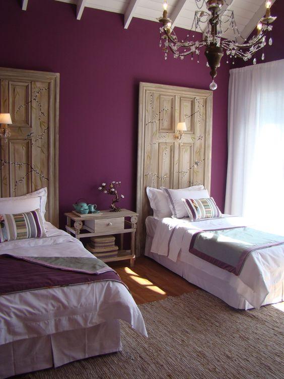 10 Cabeceros originales para habitaciones compartidas
