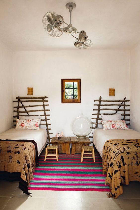 Cabeceros originales para habitaciones compartidas - Cabeceros de madera originales ...