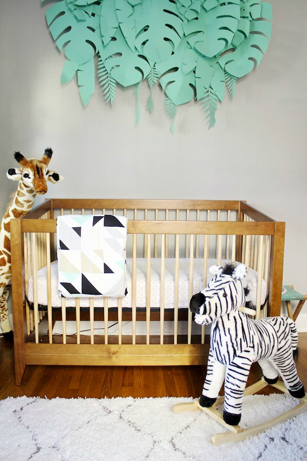 Decoraci n safari para el beb decoraci n beb s - Decoracion dormitorio bebe ...