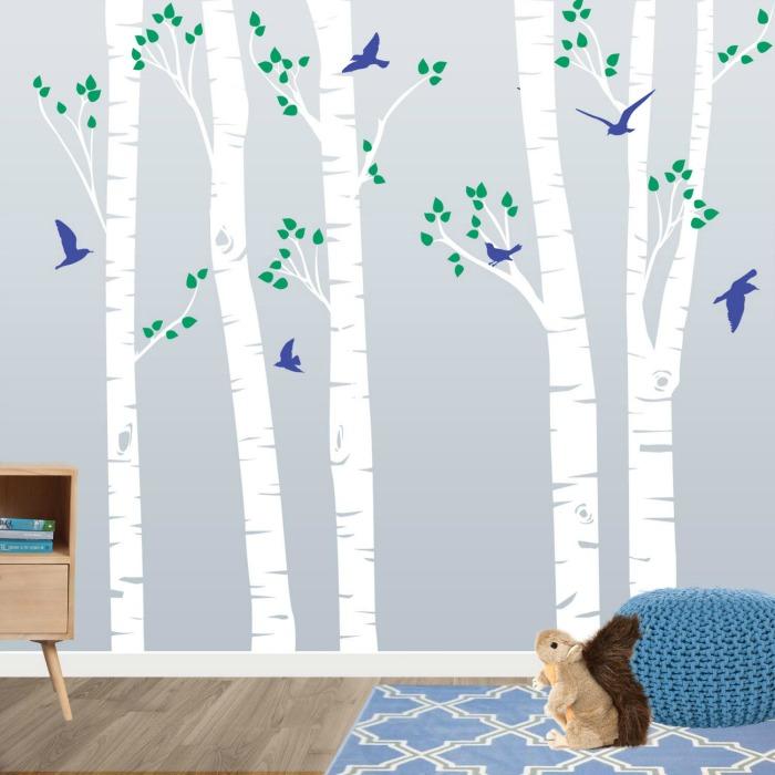 Dulces vinilos para la habitaci n infantil decoideas net for Vinilos decorativos pared habitacion