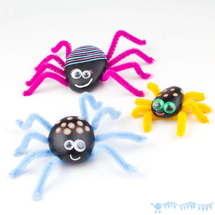 Manualidades Halloween Arañas, inspiración