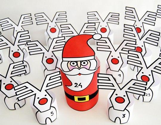 Calendario de adviento Papá Noel