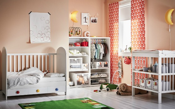 7 Inspiring Kid Room Color Options For Your Little Ones: Habitaciones De Bebé Ikea, Bonitas Y Económicas