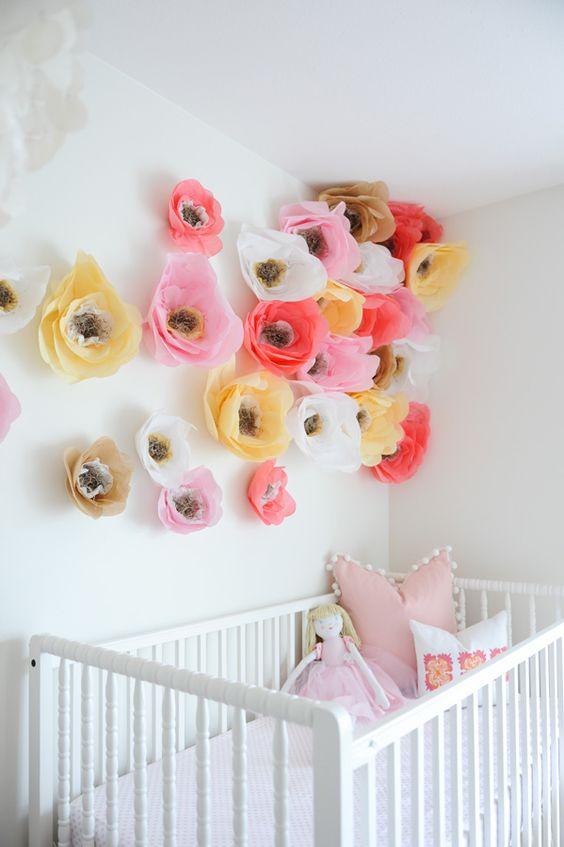 decorar con flores de papel decoraci n infantil