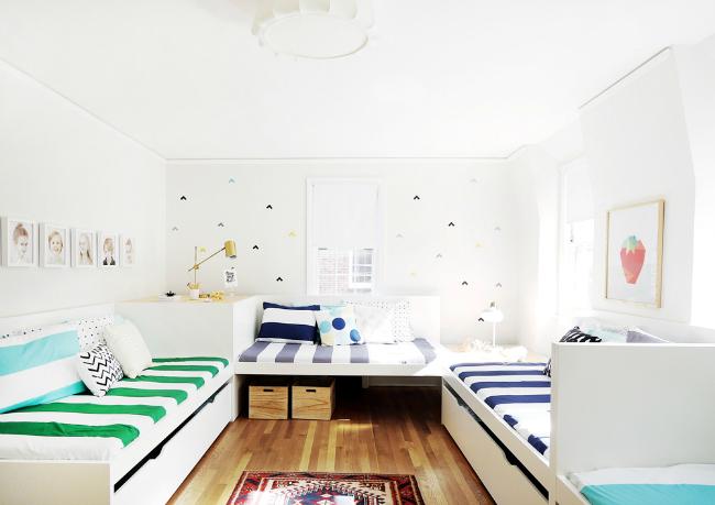 Dormitorio compartido para 7 niños