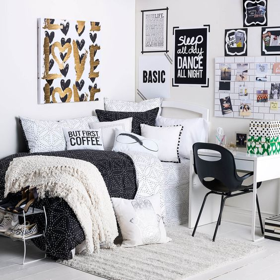 Inspiración habitaciones juveniles blancas