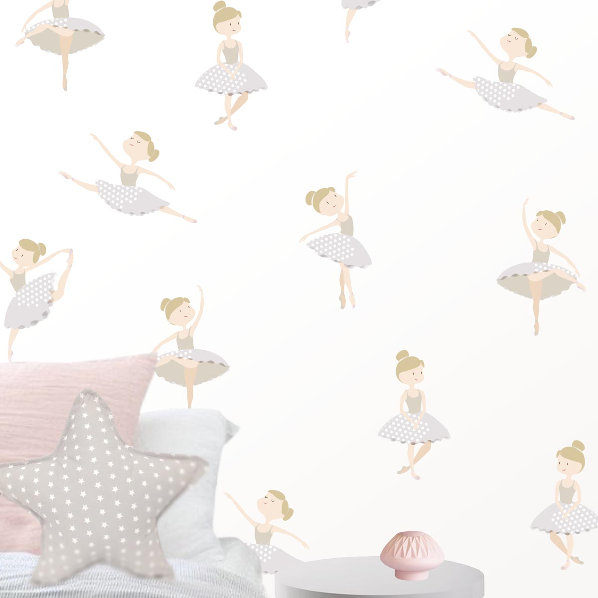 Bailarinas para decorar las paredes decoideas net - Papel infantil para pared ...